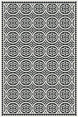 Covor sintetic Matrix negru/crem 80x150 cm