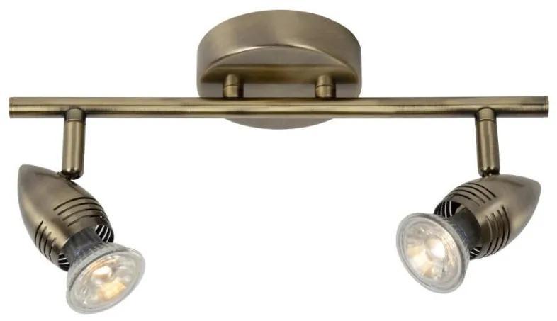 Lucide 13955/10/03 - Lampa spot LED CARO-LED 2xGU10/5W/230V bronz