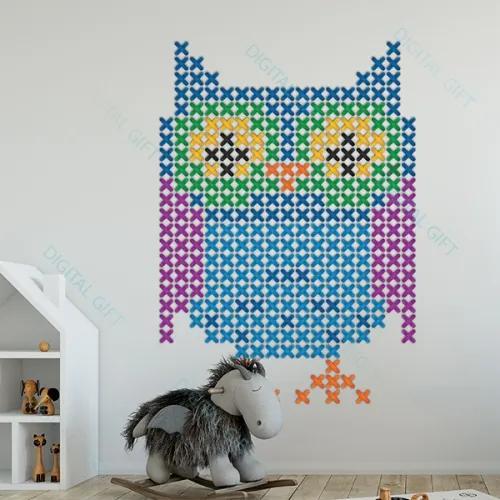Sticker pentru perete - Bufnita 71x100 cm