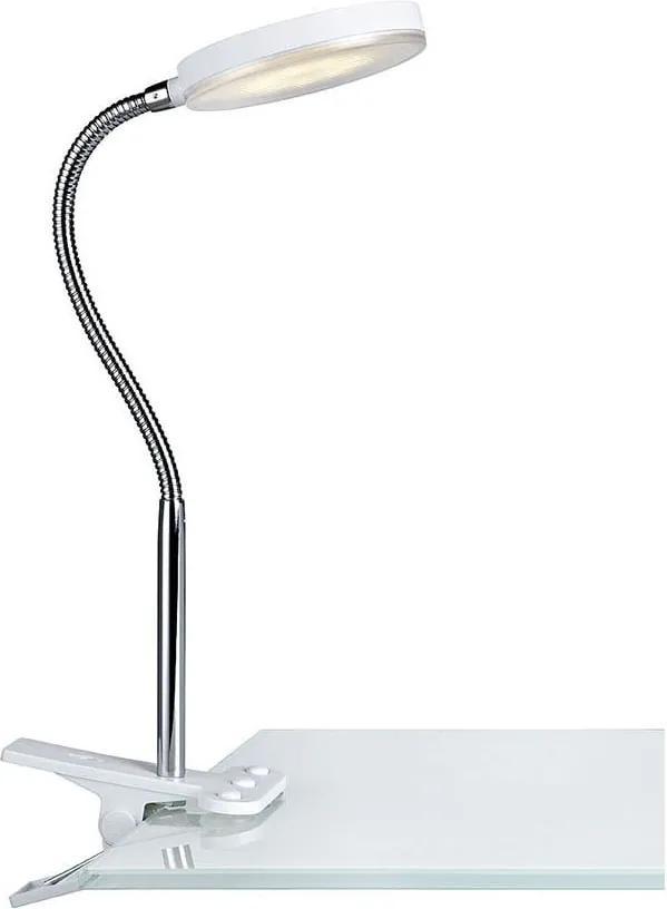 Veioză cu LED și clips Markslöjd Flex, alb