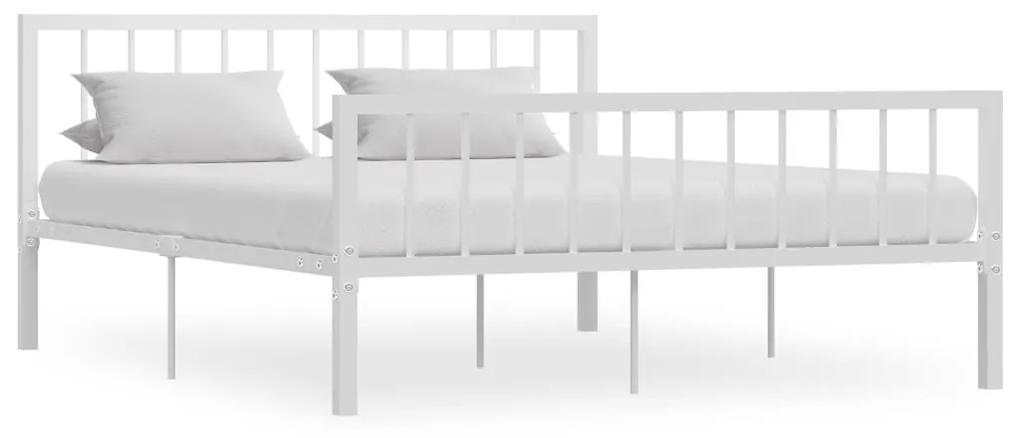 284566 vidaXL Cadru de pat, alb, 160 x 200 cm, metal