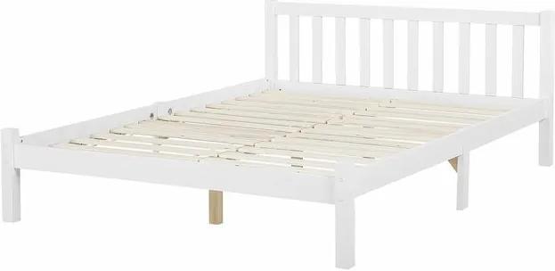 Cadru de pat Zebulon, lemn, alb, 187 x 208 cm