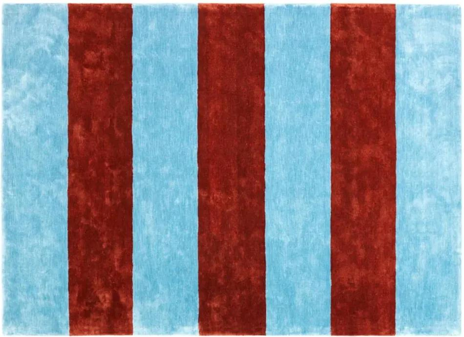 Covor Pavilion 200x280cm Albastru/Maro NORMANN COPENHAGEN - Matase de bumbac Multicolor Lungime (200cm) x Latime (280cm)