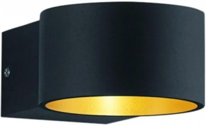 Trio 223410132 Aplice perete LACAPO negru mat metal incl. 1 x SMD, 4,5W, 3000K, 430Lm 430lm 3000K IP20 A+