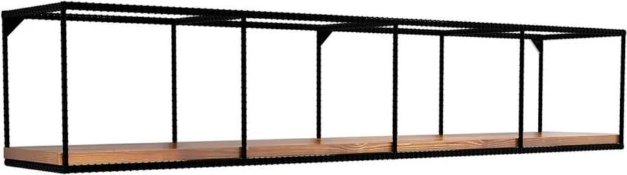 Poliță de perete cu blat din lemn de nuc în nuanță închisă Miray, lungime 120 cm