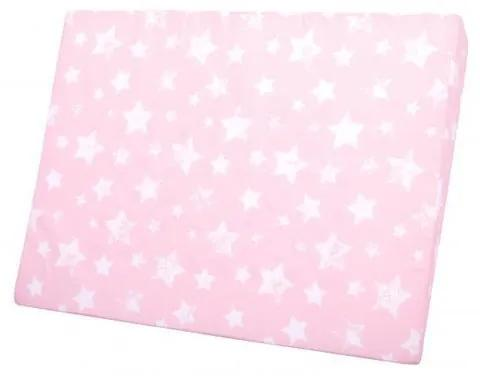 Lorelli - Perna inclinata antisufocare, Air Comfort,  60 x 45 x 9 cm, husa detasabila si lavabila, Stars Pink