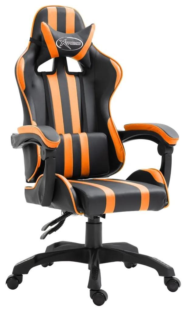 20214 vidaXL Scaun pentru jocuri, portocaliu, piele ecologică