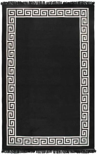 Covor reversibil Cihan Bilisim Tekstil Justed, 120 x 180 cm, bej-negru