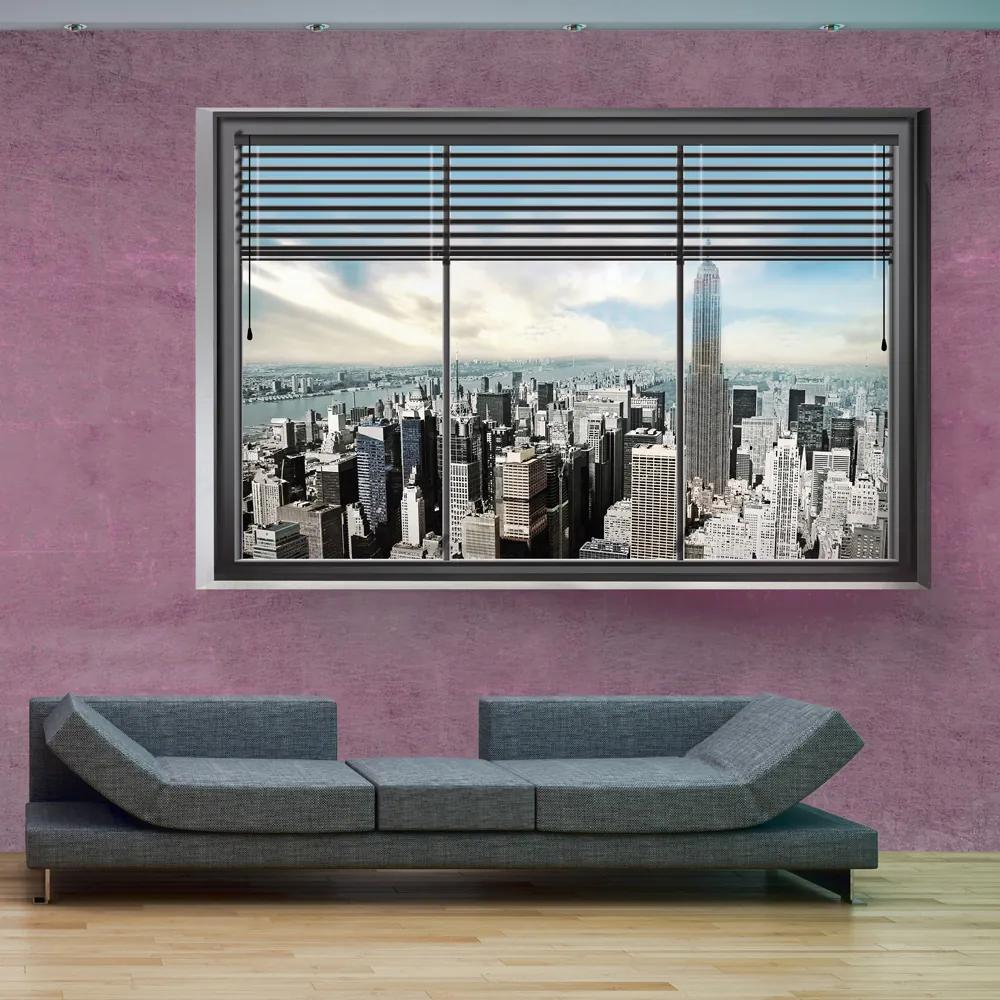 Fototapet Bimago - New York window II + Adeziv gratuit 200x140 cm
