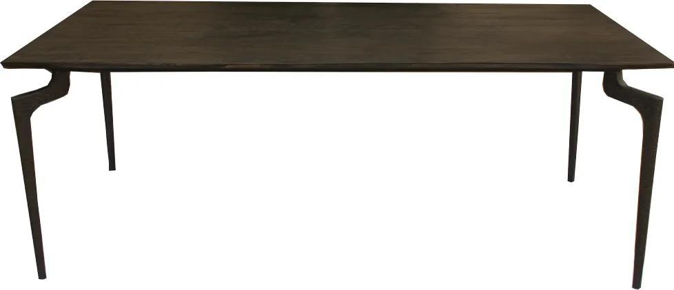 Masa dining cu blat din lemn Wooden Large 200x90cm