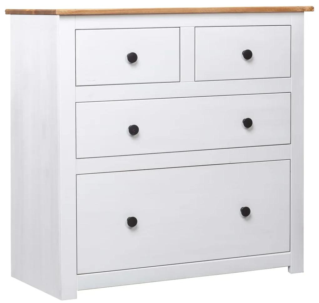 282657 vidaXL Servantă, alb, 80 x 40 x 83 cm, lemn de pin, gama Panama