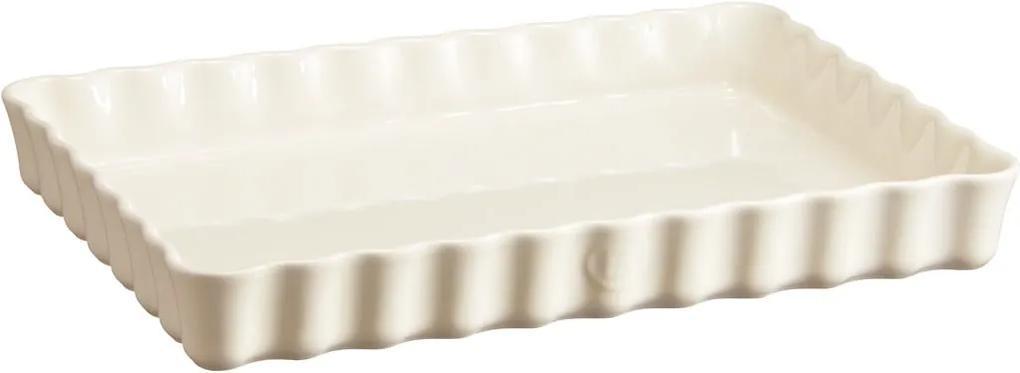 Formă dreptunghiulară pentru plăcintă Emile Henry, 24 x 34 cm, ivoriu