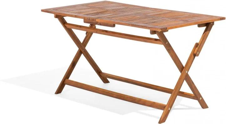 Masa de terasa CENTO, rabatabila, lemn de salcam 140 x 75 cm