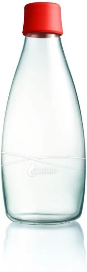 Sticlă ReTap, 800 ml, roșu