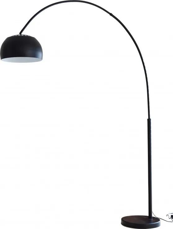 Lampadar din metal/marmura/plastic THIS & THAT 205 cm negru, un bec