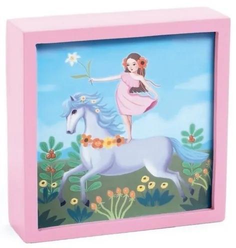 Djeco - Tablou luminos Unicornul feeric