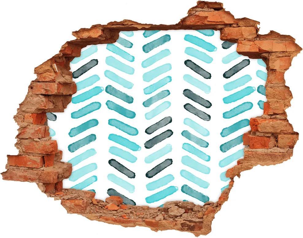 Autocolant un zid spart cu priveliște Spic albastru