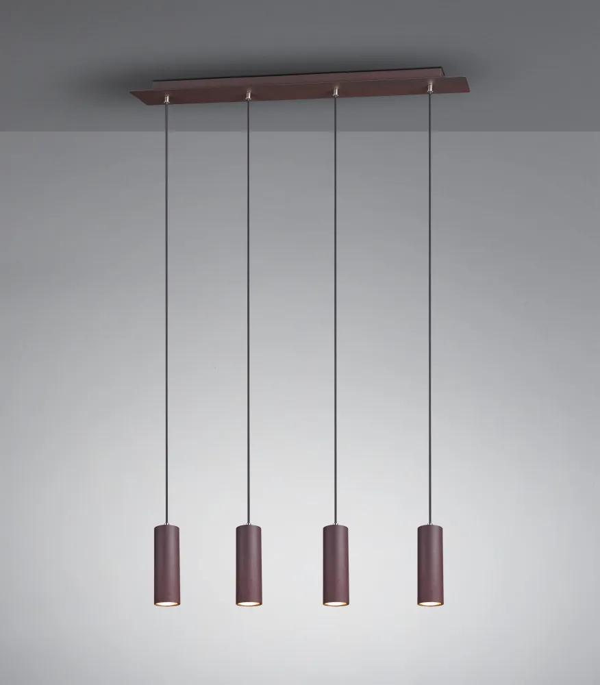 Trio 312400424 Lampi de sufragerie MARLEY rugina metal excl. 4 x GU10 IP20