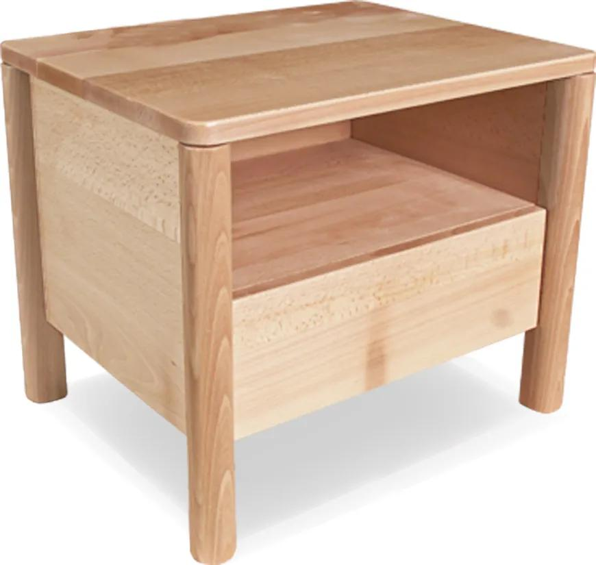 Noptiera din lemn de fag Drop 49x39x41 cm