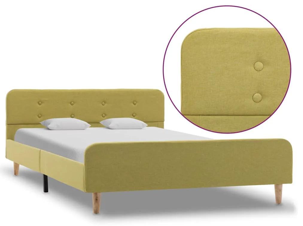 284914 vidaXL Cadru de pat, verde, 120 x 200 cm, material textil