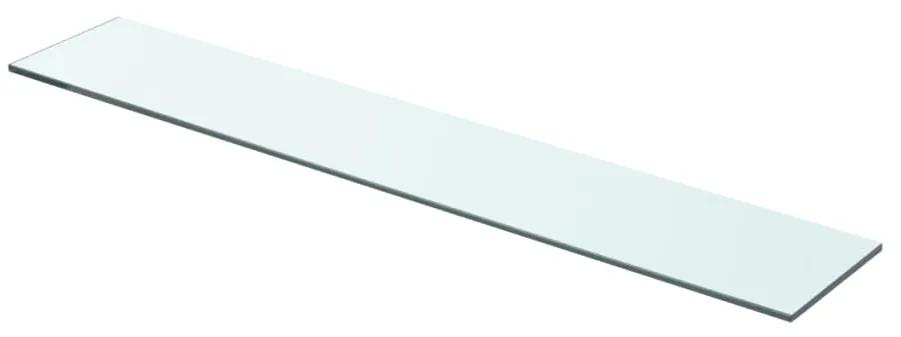 243827 vidaXL Raft din sticlă transparentă, 70 x 12 cm