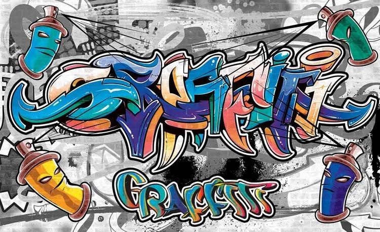 Graffiti Street Art Fototapet, (91 x 211 cm)