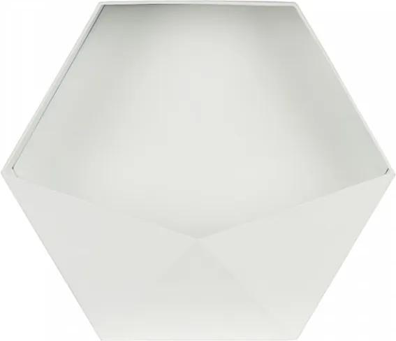 Raft alb din metal Puck XL Woood