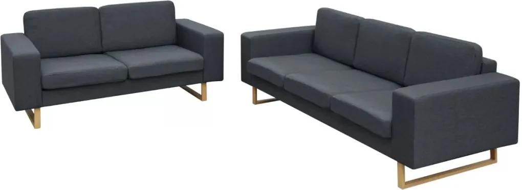 Set Canapele pentru 2 si 3 persoane, Gri inchis