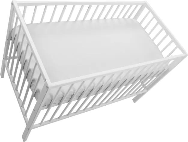 Cearceaf cu elastic alb 120x60