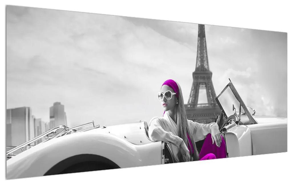 Tablou cu turnul Eiffel și mașină (K011513K12050)