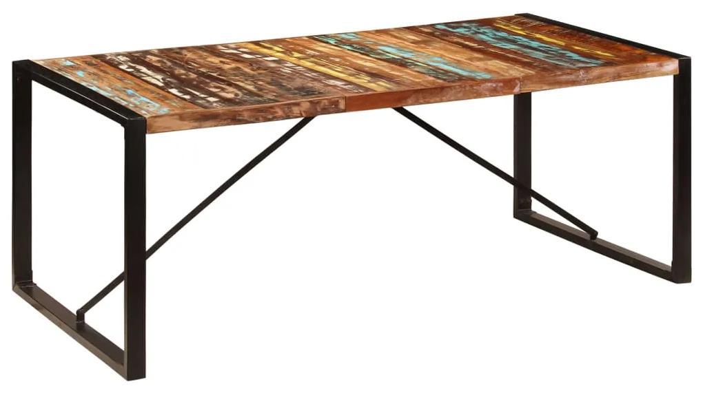 247412 vidaXL Masă de bucătărie, 200x100x75 cm, lemn reciclat de sheesham