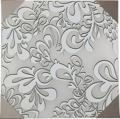 Plafoniera Kamose E27 max. 3x60W, nichel/sticla decorativa