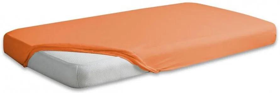 Cearceaf jerse din bumbac cu elastic 120x60 cm Orange 05