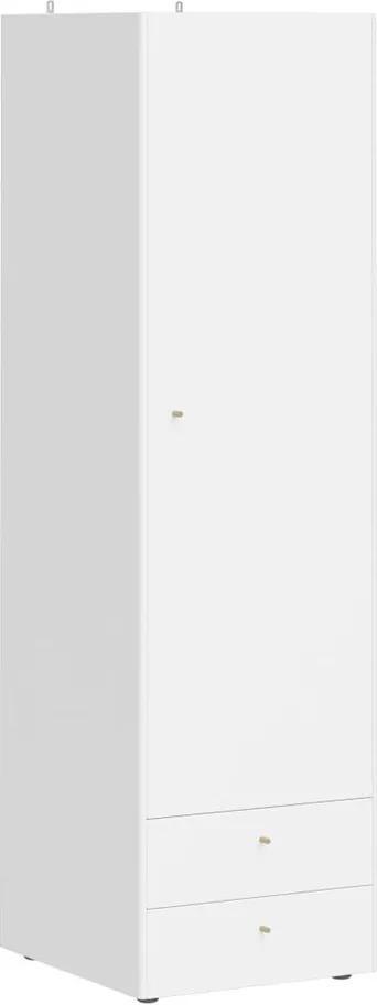 Dulap îngust cu 2 sertare Germania Monteo, alb