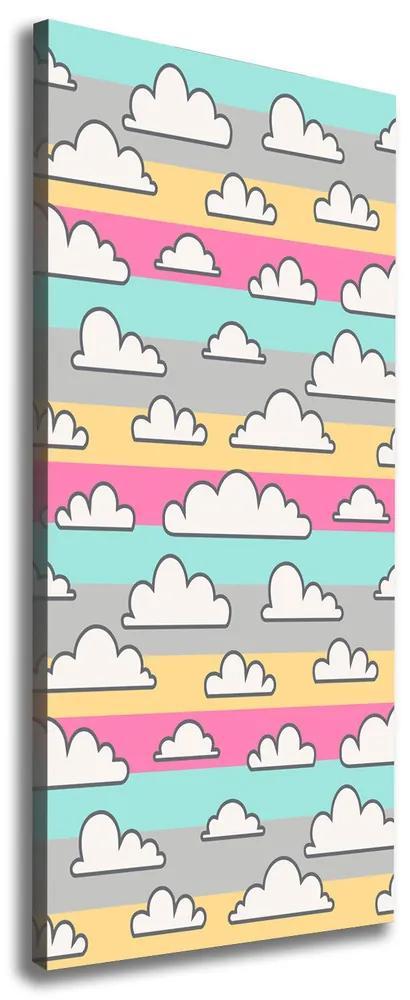 Tablou pe pânză canvas Fundal colorat nori
