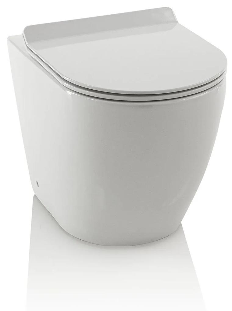 Toaleta rotunda ROUND, Ceramica, Alb,  55x36.5x40 cm