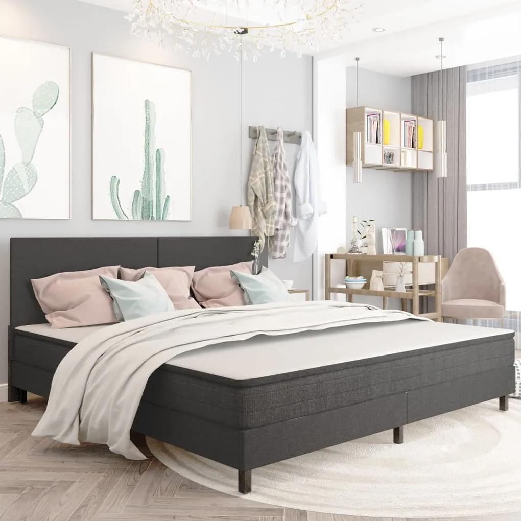 287459 vidaXL Cadru de pat, gri, 200 x 200 cm, textil