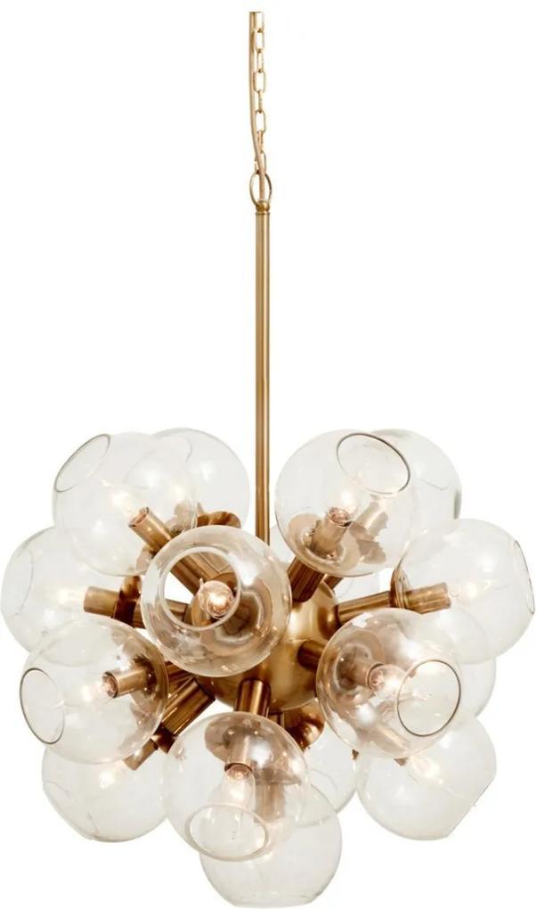 Lampa cu Globuri de Sticla Atomic - Metal Auriu Diametru (57 cm) x Inaltime (78 cm)