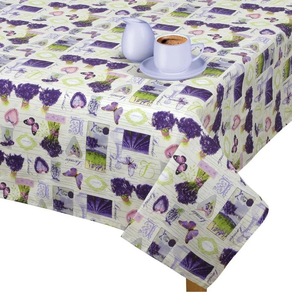Faţă de masă Gita Provence - Lavandă în buchet, 100 x 100 cm