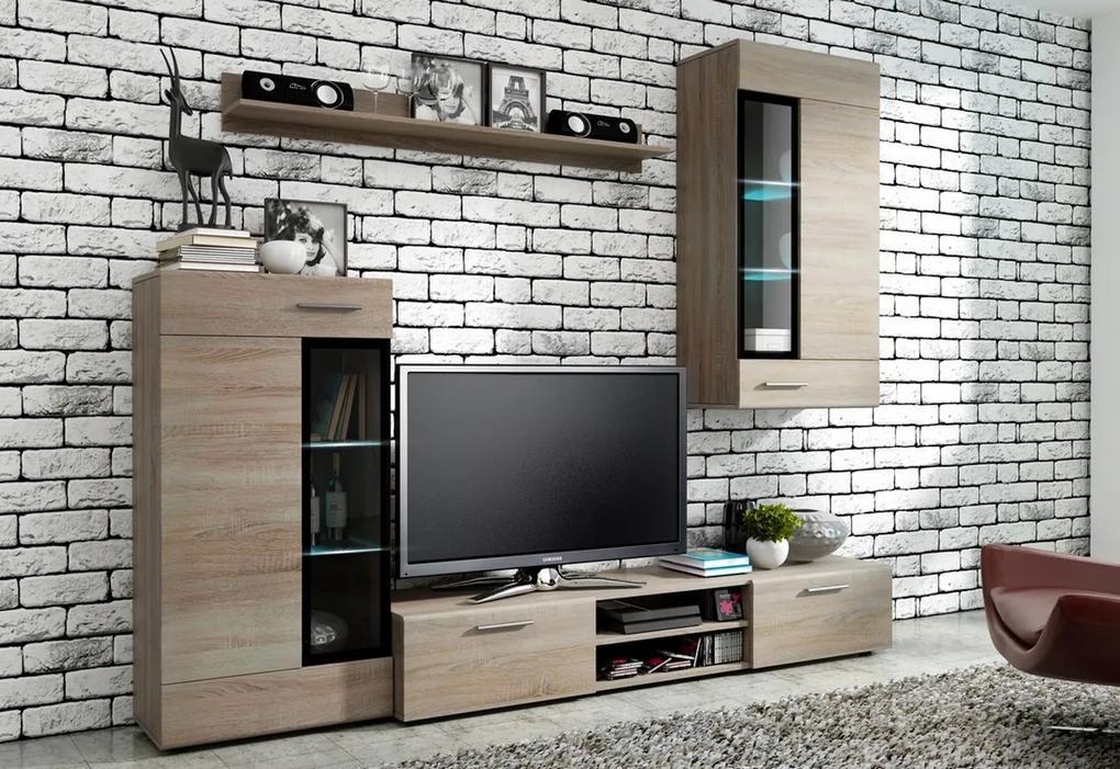 Expedo Mobilă sufragerie VALTZ, sonoma + LED