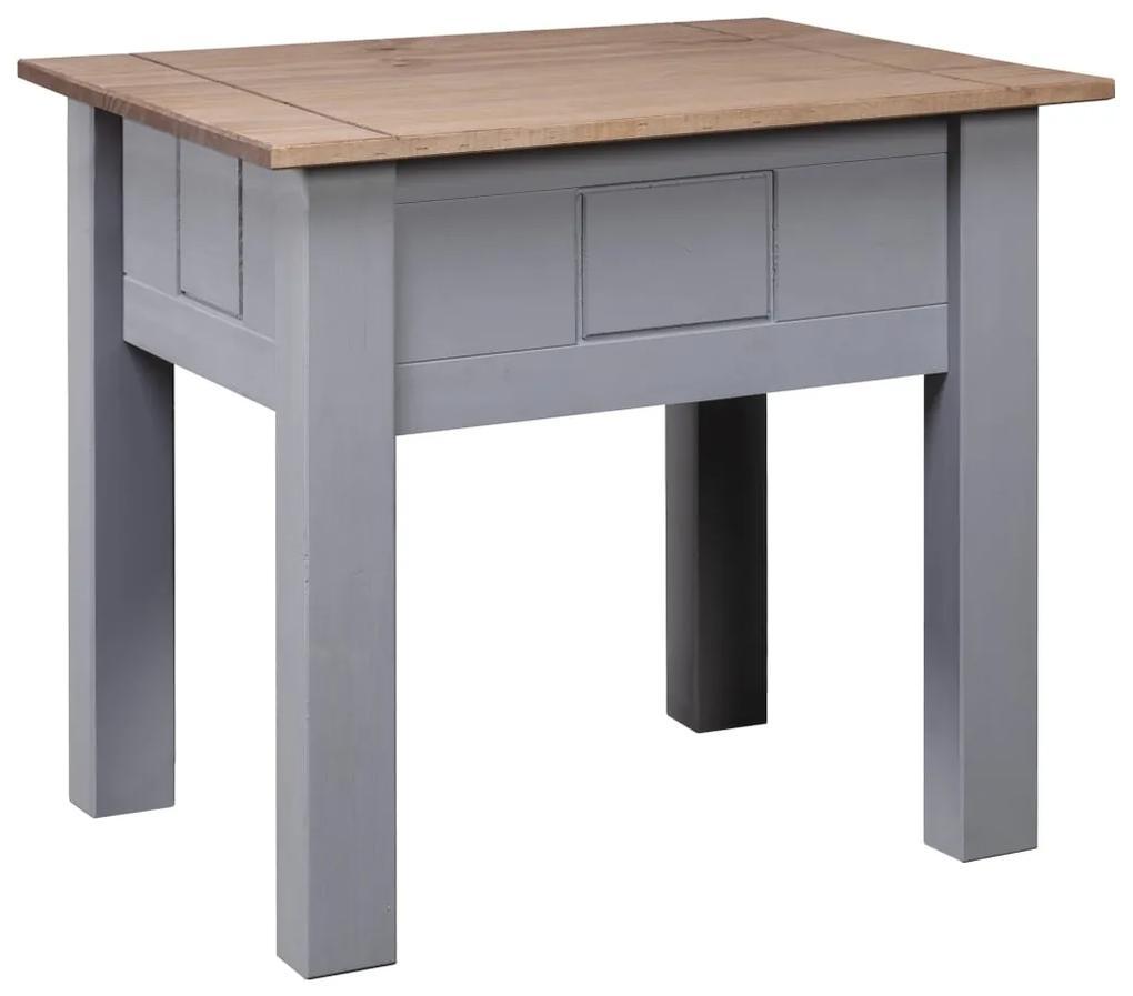 282674 vidaXL Noptieră, gri, 50,5 x 50,5 x 52,5 cm, lemn de pin, gama Panama