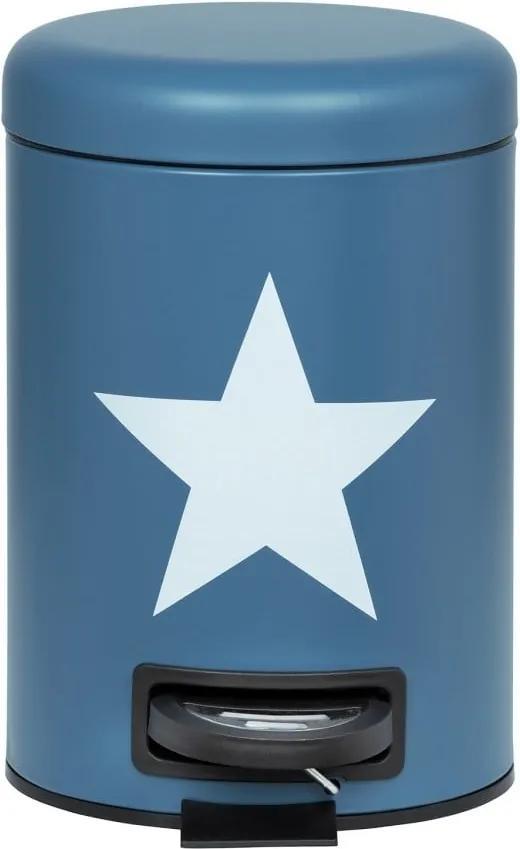 Coș de gunoi cu pedală Wenko Stella, 3 l, albastru închis