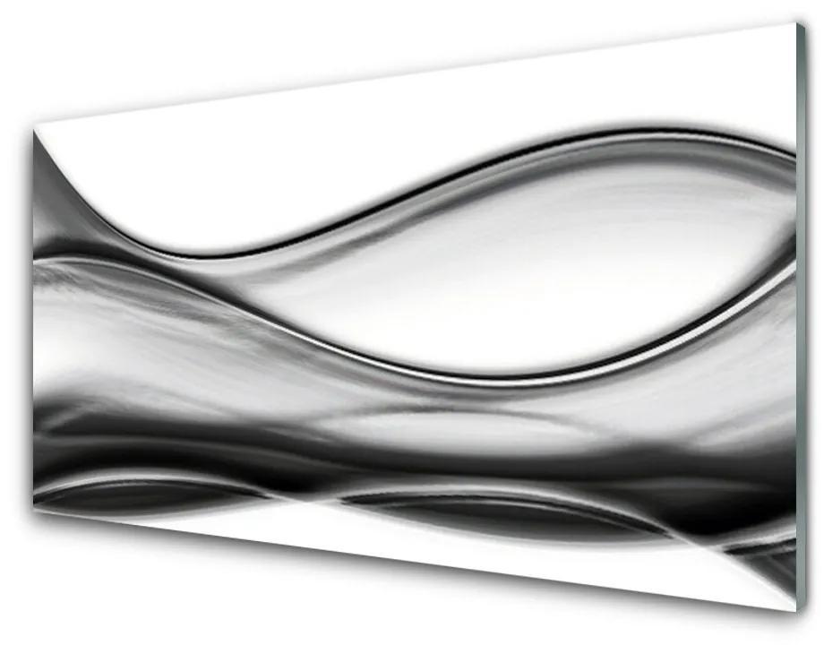 Tablou pe sticla acrilica Abstracție Arta Gri Alb