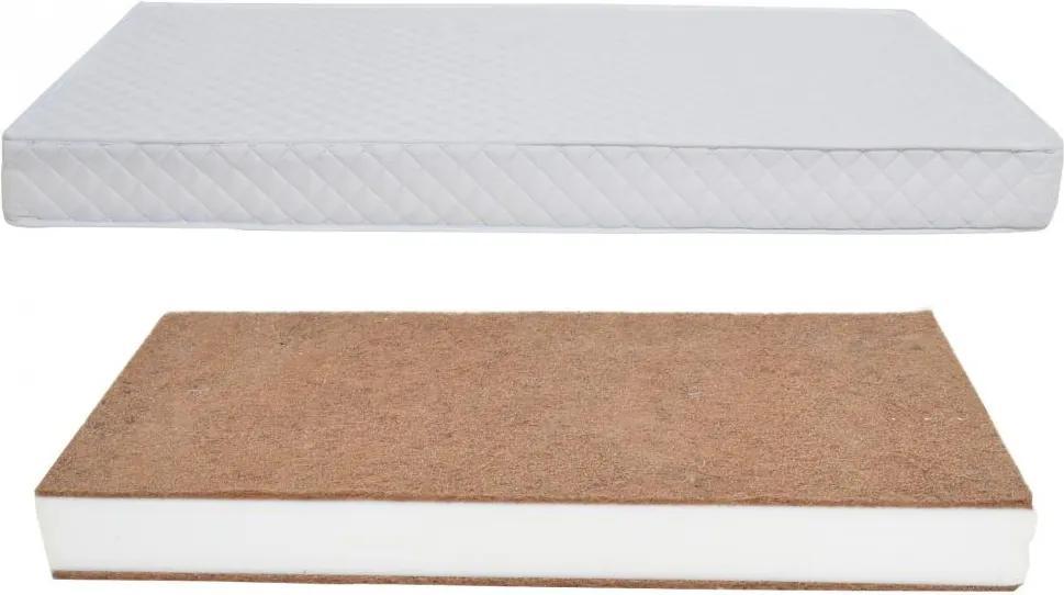 Saltea cu husa detasabila din microfibra Nichiduta Cocos Comfort + 120x60x10 cm