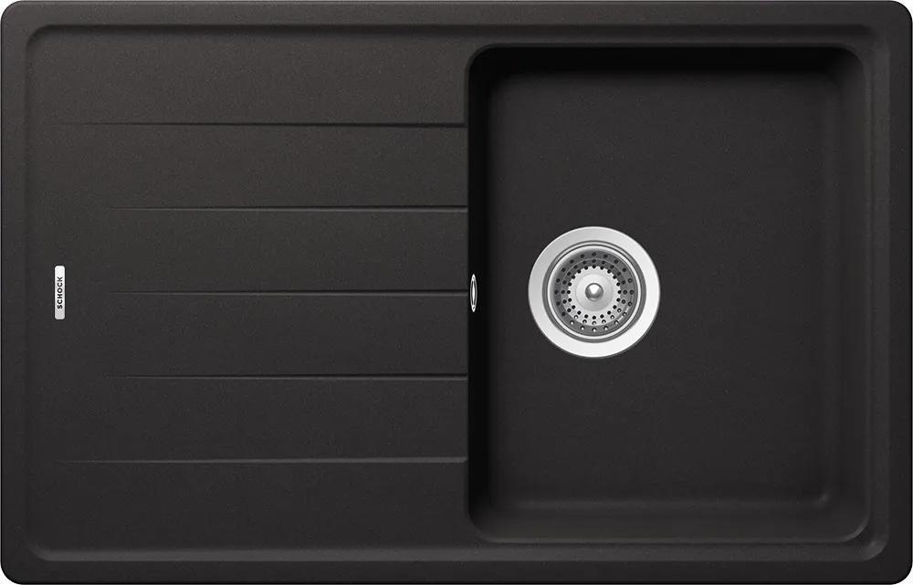 Chiuveta Granit Schock Element D-100S Nero Cristalite 780 x 500 mm