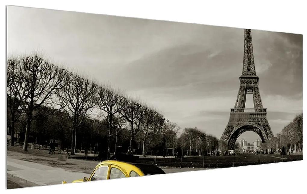 Tablou cu turnul Eiffel și mașina galbenă (K012206K12050)