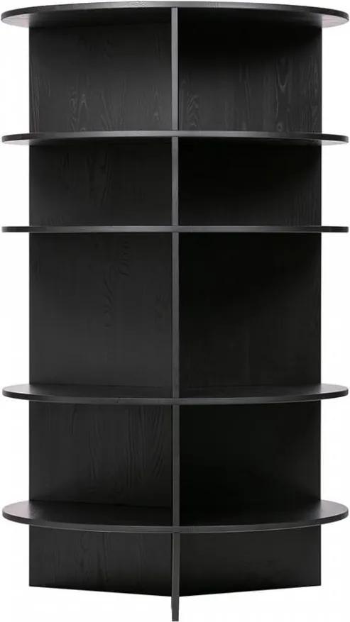 Biblioteca neagra din lemn 168 cm Trian Andy Black