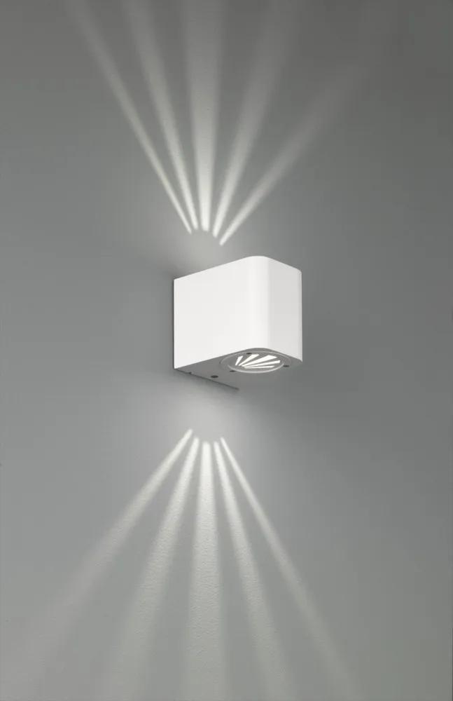 Trio R28200601 Aplice pentru iluminat exterior BOGOTA alb aluminiu incl. 2 x SMD, 3W, 3000K, 260Lm 260lm 3000K IP54 A++