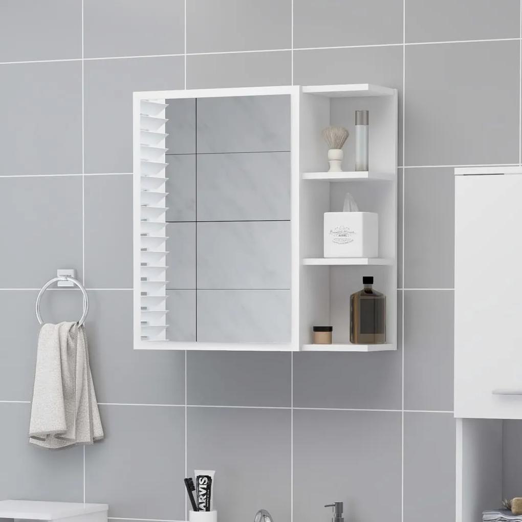 803308 vidaXL Dulap de baie cu oglindă, alb, 62,5 x 20,5 x 64 cm, PAL