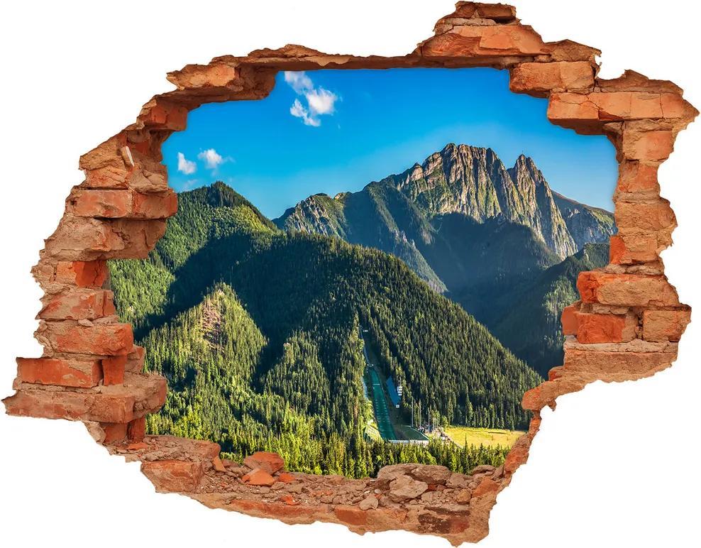 Samolepiaca diera na stenu Jazero v horách